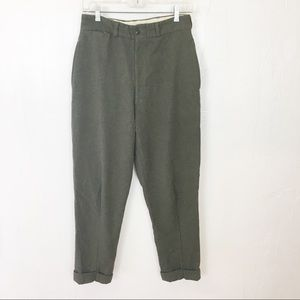 Vintage Wool High Waisted Trousers / Sm.